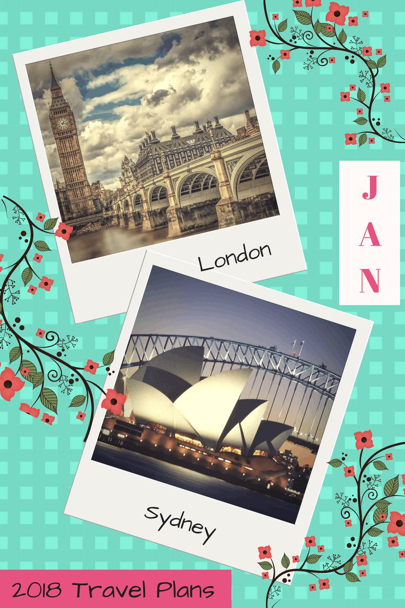 2018 Travel Plans - January
